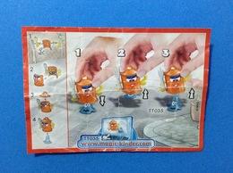 BIDONI TT035 CARTINA KINDER FERRERO - Istruzioni