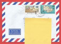 Enveloppe Timbrée ILE MAURICE  ( Mauritus Rs 5 Et Rs 7 ) Port Louis Voir Photo - Maurice (1968-...)
