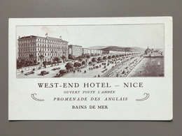 NICE - West-End Hotel - Cafés, Hoteles, Restaurantes