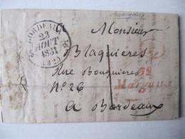 MARQUE POSTALE  LETTRE   1831 - Marcophilie (Lettres)