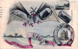 St-Gilles - Souvenir De Mon Passage à St-Gilles - Fantaisie )- Mulri-vues  - Aéroplane - St-Gillis - St-Gilles