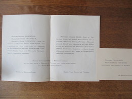 REIMS 62 BOULEVARD LUNDY LE 26 NOVEMBRE 1924 MADEMOISELLE SOLANGE VINCIENNE AVEC MONSIEUR FRANCOIS BRAY INGENIEUR AGRICO - Mariage