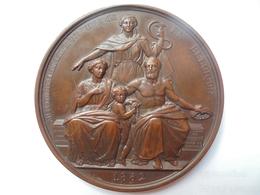 CHARLES ROGIER-HYGIENE PUBLIQUE En 1852 Par LEOP.WIENER 125 Grammes-65 Mm - Professionals / Firms