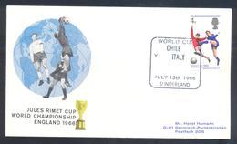 England UK 1966 Cover: Football Fussball Soccer Calcio; FIFA World Cup 1966 England; Jules Rimet Cup Chile - Italy - Coupe Du Monde
