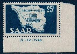SARRE 1948 Anniversaire De La Constitution    N° YT 249  ** MNH - 1947-56 Occupation Alliée