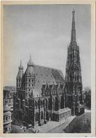 CPSM - WIEN - DOM ZU ST STEPHAN - GOTISCHER NEUBAU, 1304 BEGONNEN, ENTSCHEIDEND GEFORDERT VON HERZOG RUDOLF IV... - Churches