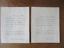 FISMES LE 5 SEPTEMBRE 1946 MONSIEUR HENRI LIANCE DOCTEUR EN DROIT NOTAIRE AVEC MADEMOISELLE LEONY MOURGUES - Mariage