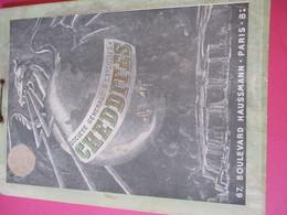 Publicitaire/Plaque Carton Murale/Support D'éphéméride/Soc Générale D'Explosifs CHEDDITES/Paris/ Vers 1920-1930  BFPP215 - Plaques Publicitaires