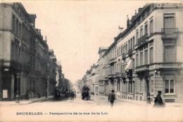 Bruxelles - Perspective De La Rue De La Loi - Lanen, Boulevards