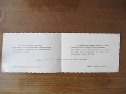 REIMS LE 25 AVRIL 1940 LE COMMANDANT LAMORRE & MADAME FONT  PART DU MARIAGE DE LEUR FILS JEAN AVEC YVONNE L'HUILLIER - Mariage