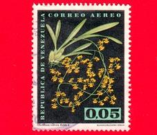 VENEZUELA - Usato - 1962 - Fiori - Orchidee - Oncidium Volvox - 0.05 P. Aerea - Venezuela