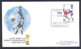 England UK 1966 Cover: Football Fussball Soccer; FIFA World Cup 1966 Jules Rimet Cup; Italy - N. Korea - Coupe Du Monde