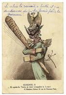 GUIGNOL II Et Après La Terre, Je Veux Conquérir La Lune ! Signé Ch. Léo Ed. Mathière, Envoi 1915 (lire Texte...) - Oorlog 1914-18