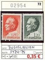 Jugoslawien - Yougoslavie - Jugoslavija - Michel 1474-1475 - ** Mnh Neuf Postfris - 1945-1992 Sozialistische Föderative Republik Jugoslawien