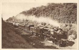 Lot De 10 CPA Locomotives à Vapeur Dans Leur Présentoir - Chemins De Fer