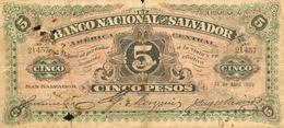 5 PESOS 1909 - El Salvador