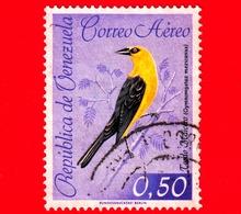 VENEZUELA - Usato - 1962 - Fauna - Uccelli - Birds - Tordo Maicero - 0.50 P. Aerea - Venezuela