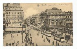 Bruxelles Tram Tramway Place De La Bourse Et Boulevard Anspach Brussel - Monuments, édifices