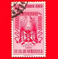 VENEZUELA - Usato - 1952 - Stemma Dello Stato Di Lara - Arms - 10 - P. Aerea - Venezuela