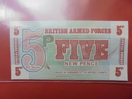 GRANDE-BRETAGNE (MILITAIRE) 5 PENCE 1972 PEU CIRCULER/NEUF - Forze Armate Britanniche & Docuementi Speciali