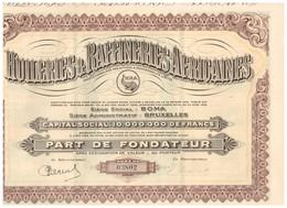 Titre Ancien - Huileries & Raffineries Africaines - Titre De 1929 - Afrique