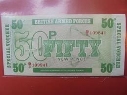 GRANDE-BRETAGNE (MILITAIRE) 50 PENCE 1972 PEU CIRCULER/NEUF - Forze Armate Britanniche & Docuementi Speciali