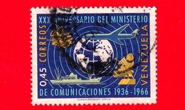 VENEZUELA - Usato - 1966 - XXX Anniversario Del Ministero Delle Comunicaioni - 0.45 - Venezuela