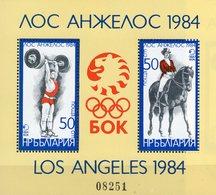 Olympiade Los Angeles 1984 Bulgaria Block 132 ** 20€ Gewichtheben Reiten Sport Hb Bloque M/s Bloc Sheet Bf Olympics - Bulgarie