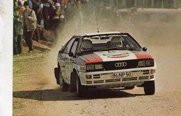 Audi Quattro  -  Pilote: Michele Cinotto  - Rallye San Remo 1982 - Carte Postale - Rallyes