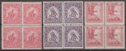 Ungheria 1916 Michel N.183-185 3v Block 4 MNH - Hungría