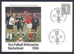Germany 1966  Card: Football Fussball Soccer Calcio FIFA World Cup 1966 England Jules Rimet Cup Vizeweltmeister; Results - Copa Mundial
