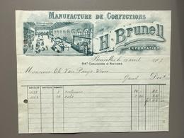 BRUSSEL - BRUXELLES - Manufacture De Confections - Brunell - 1907 - België