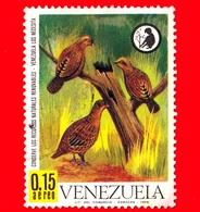 VENEZUELA - Usato - 1968 - Conservazione Delle Risorse Naturali - Uccelli - Odontophorus Gujanensis - 0.15  P. Aerea - Venezuela