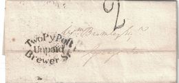 Marque Postale BREWER Street De Londres (1814) : La Rue Doit Son Nom à La Brasserie De T. Ayres Construite En 1664 - Biere
