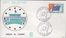 FDC 251 - FRANCE Service N° 33 Conseil De L'Europe Sur FDC 1971 - FDC