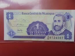 NICARAGUA 1 CENTAVO 1991 PEU CIRCULER/NEUF - Nicaragua