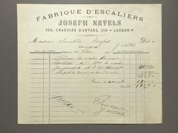 LAEKEN - LAKEN - Fabrique D' Escaliers - Joseph Netels - 1896 - Belgique