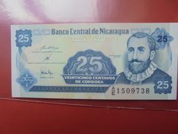 NICARAGUA 25 CENTAVOS 1991 PEU CIRCULER/NEUF - Nicaragua