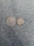 Lot De 2 Pièces De 1 Franc 1909 Et 50 Centimes 1901 Belges En Argent En TTB - 07. 1 Franc