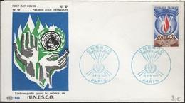 FDC 253 - FRANCE Service N° 41 UNESCO Sur FDC 1971 - FDC