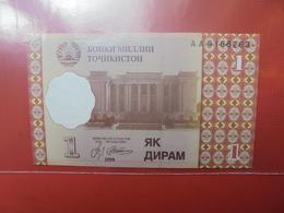 TADJIKISTAN 1 DIRAM 1999 PEU CIRCULER/NEUF - Tajikistan
