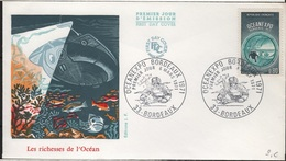FDC 256 - FRANCE N° 1666 OEANEXPO Sur FDC 1971 - FDC