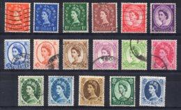 Great Britain - 1958/60 - Definitives (Watermark Multiple Crown) - Used - Oblitérés
