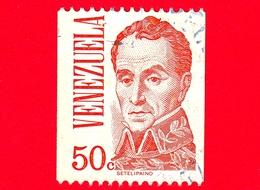 VENEZUELA - Usato -  1978 - Simón Bolívar (1783-1830) - 50 C - Venezuela