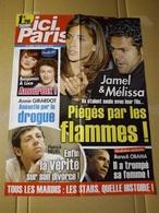 """Affiche """"ici Paris"""" N° 3383 Jamel D. Et Mélissa T. ; Nouvelle Star, Benj. Et Luce ; P. Bruel ; B. Obama ; Annie Girardot - Affiches"""