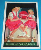 Coca Cola Pubblibità CARTOLINA Non Viaggiata Riproduzione COKE 1997 - Pubblicitari