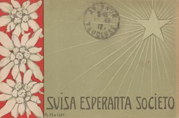 CPA  SUISSE  ESPERANTO   SUISA ESPERANTA SOCIETO - Esperanto