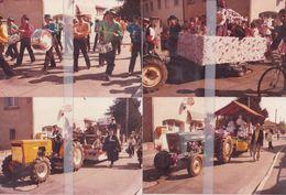 RARE LOT DE 17 PHOTOS ( POSSIBLE BOURG-LES-VALENCE) DEFILE DE CHARS, MAJORETTES ET MUSIQUES EN 1985 - France