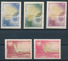 °°° LIBAN - Y&T N°275/79 PA - 1963 MNH °°° - Libano