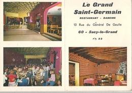 Carte Restaurant Le Grand Saint-Germain Sacy-le-Grand - France